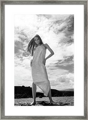 Veruschka Wearing A Dress Framed Print