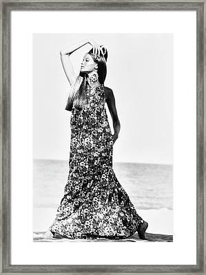 Veruschka Wearing A Kahala Dress Framed Print
