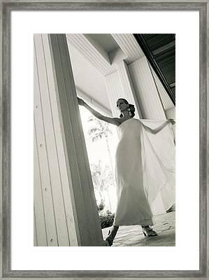 Veruschka Wearing A Stern & Stern Dress Framed Print by Franco Rubartelli