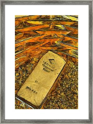 Very Beautiful Gold Ingots Framed Print by Teara Na
