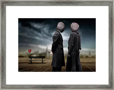 Very Blind Date. Framed Print