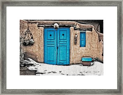 Very Blue Door Framed Print