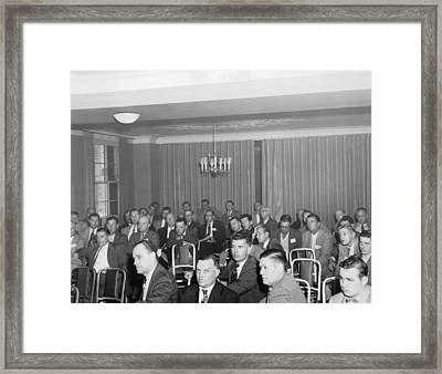 Very Bored Men Framed Print by Underwood Archives