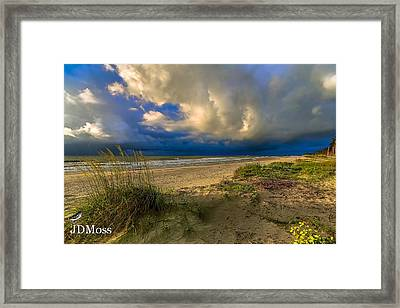 Very Cloudy Framed Print by Janet Moss