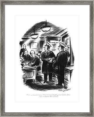Very Good, Gentlemen - Men's Grill, Schrafft's Framed Print