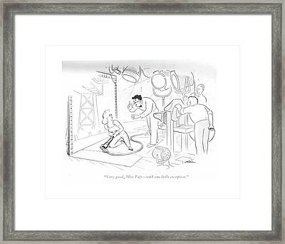 Very Good, Miss Taft - With One Little Exception Framed Print by  Alain