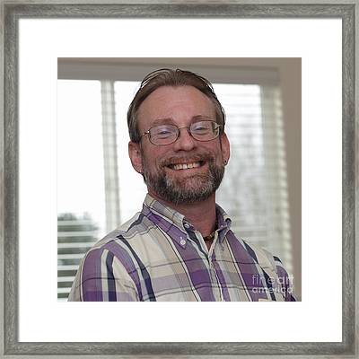 Very Happy Man Smiling Wide Framed Print by Lee Serenethos