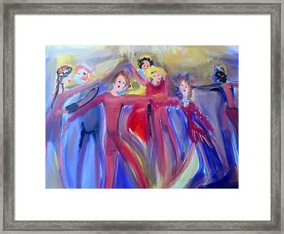 Very Hot Dance Team Framed Print