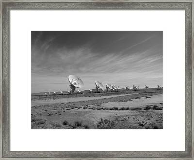 Very Large Array In Black And White Framed Print