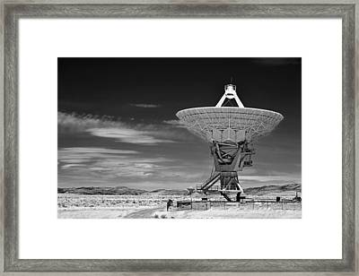 Very Large Array Radio Telescopes Framed Print by Christine Till