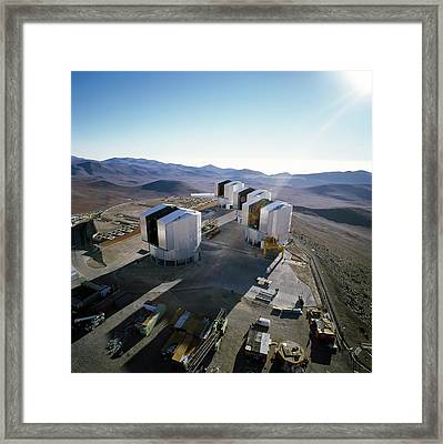 Very Large Telescope (vlt) Framed Print by European Southern Observatory