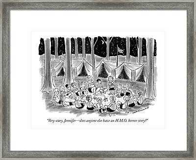Very Scary, Jennifer - Does Anyone Else Have An Framed Print by Nick Downes