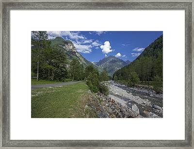 Verzasca River - Sonogno Framed Print by Radka Linkova