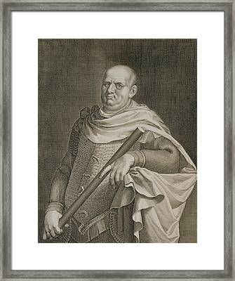 Vespasian Emperor Of Rome 69-79 Ad Framed Print by Titian