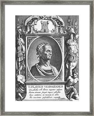 Vespasian, Roman Emperor Framed Print by Science Photo Library