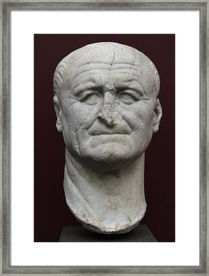 Vespasian Framed Print by Roman School