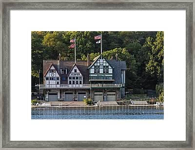 Vesper And Malta Boat Clubs Boathouse Row Framed Print