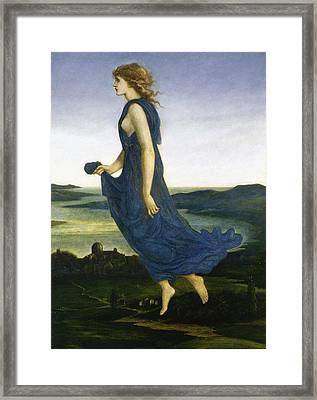 Vesper The Evening Star Framed Print by Edward Burne Jones