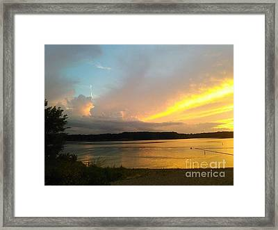 Vespers On Lithia Springs Beach At Sunset Framed Print