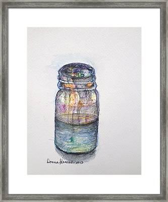 Vessel  Framed Print by Donna Kerness