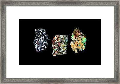 Vesta Meteorites Framed Print
