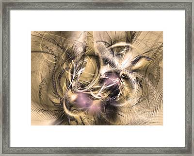 Vestigium Aeternum - Abstract Art  Framed Print