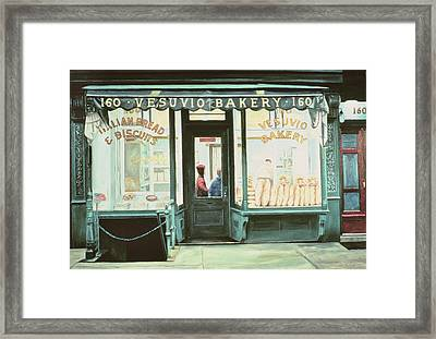 Vesuvio Bakery Framed Print by Anthony Butera