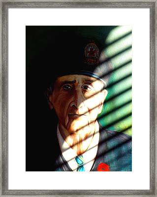 Framed Print featuring the painting Veteran by Irena Mohr