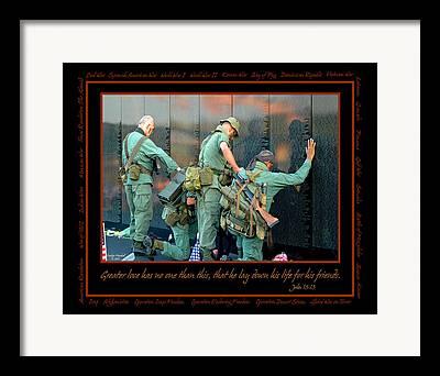 Patriotism Digital Art Framed Prints