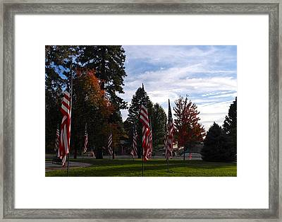 Veterans Day Is Done Framed Print by Michele Myers