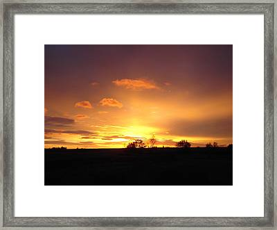 Veteran's Day Sunset 2013 Framed Print