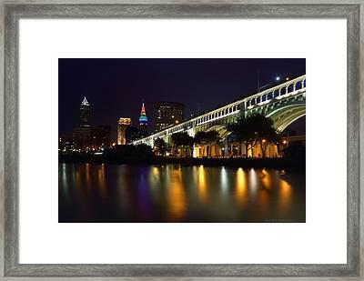Veteran's Memorial Bridge Framed Print
