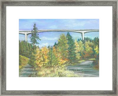 Veterans Memorial Bridge In Coeur D'alene Framed Print