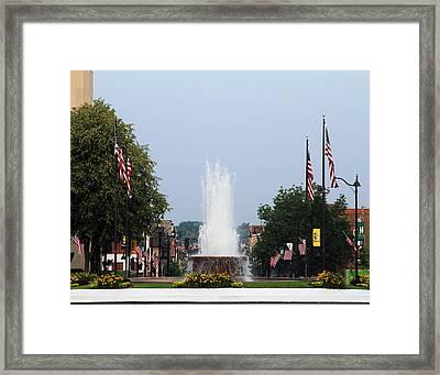 Veterans Memorial Fountain Belleville Illinois Framed Print