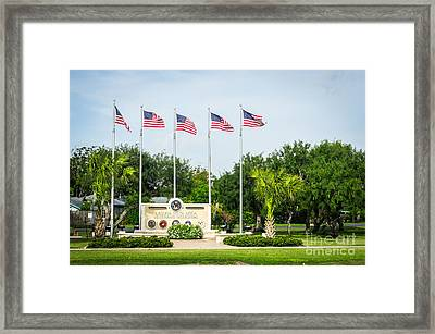 Veterans Memorial Laguna Vista Texas Framed Print by Imagery by Charly
