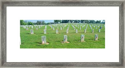 Veterans National Cemetery On Veterans Framed Print by Panoramic Images