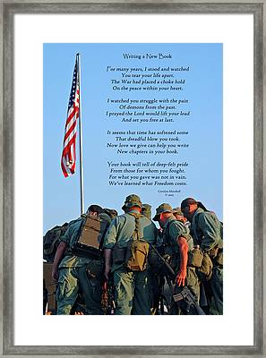 Veterans Remember Framed Print by Carolyn Marshall