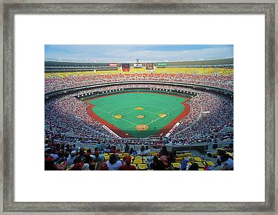 Veterans Stadium During Major League Framed Print
