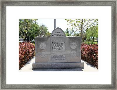 Framed Print featuring the photograph Veterans Memorial by John Mathews