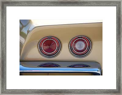 Vette Lights Framed Print
