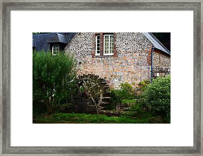 Veules Les Roses Watermill Framed Print