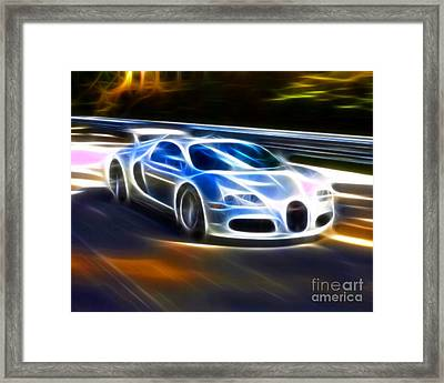 Veyron - Bugatti Framed Print by Pamela Johnson