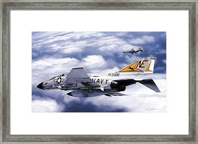 Vf-21 Freelancers Framed Print by Peter Chilelli