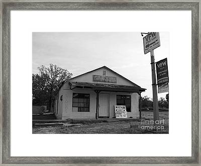 Vfw Hall Framed Print by Jim Terry