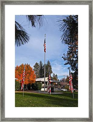Vfw Hall Veterans Day Framed Print by Michele Myers