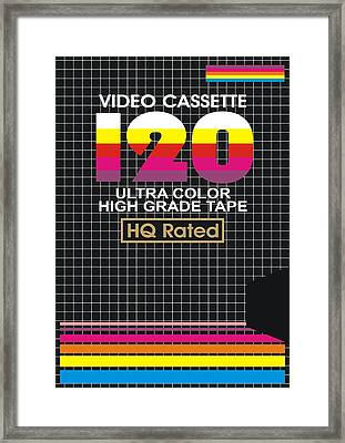 Vhs Tape Cover 3 Framed Print by Nicole Wynn