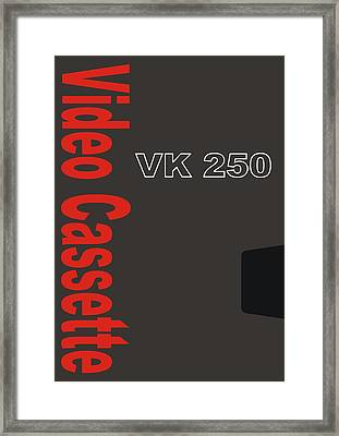 Vhs Tape Cover 8 Framed Print by Nicole Wynn