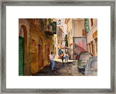Via Della Lungarina Framed Print