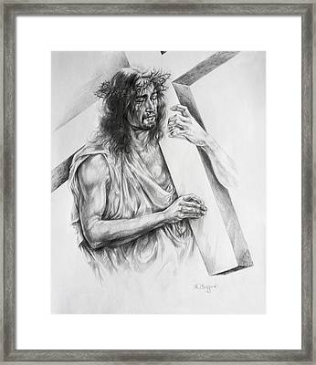 Via Dolorosa Framed Print