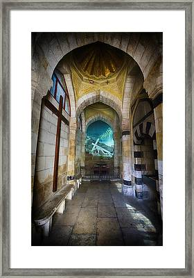 Via Dolorosa Station 3 Chapel - Jerusalem Framed Print by Stephen Stookey